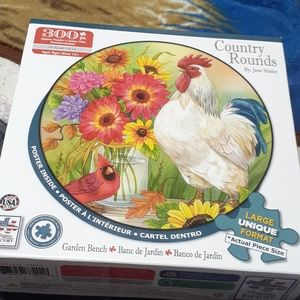 Country rounds 300 piece bird puzzle by Jane Maday